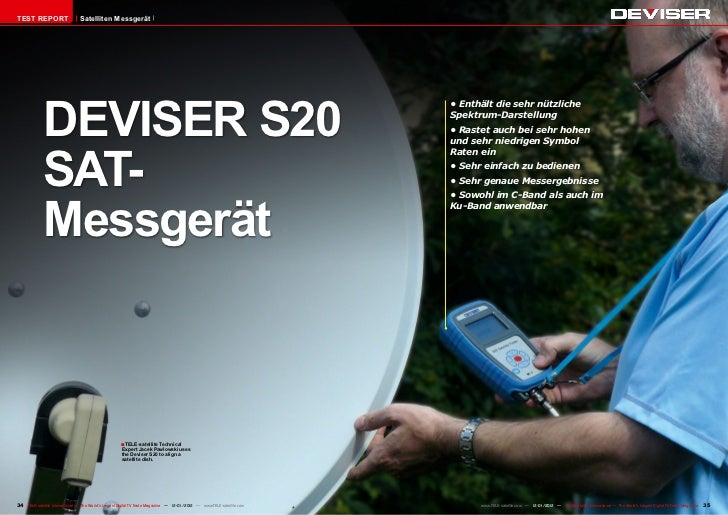 TEST REPORT                     Satelliten Messgerät             DEVISER S20                                              ...