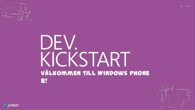 Välkommen till Windows Phone8!