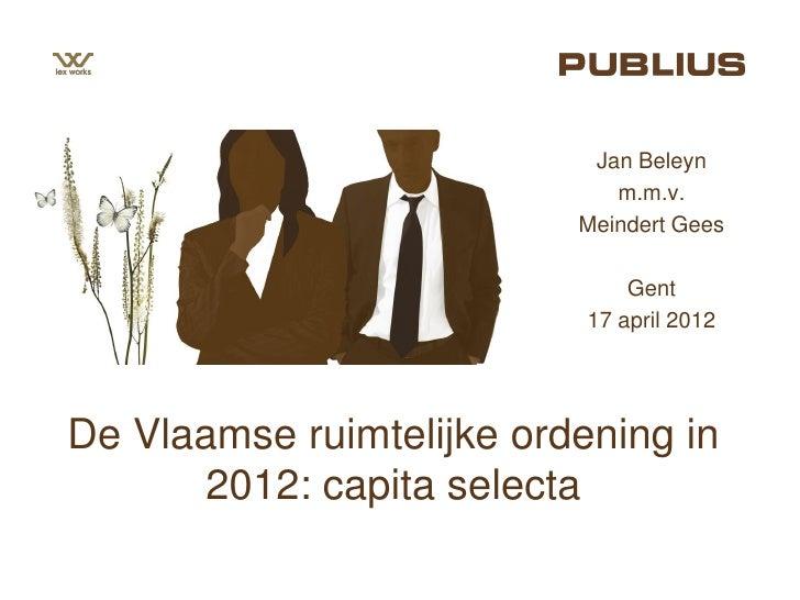 Jan Beleyn                             m.m.v.                          Meindert Gees                               Gent   ...