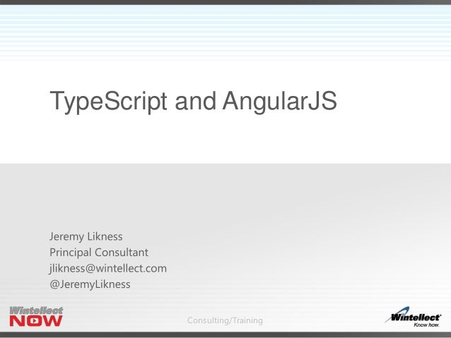 Consulting/Training TypeScript and AngularJS