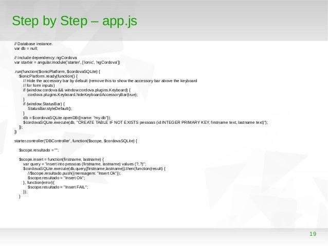 Desenvolvendo uma aplicação híbrida para Android e IOs