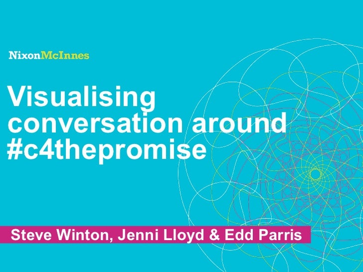 Visualisingconversation around#c4thepromiseSteve Winton, Jenni Lloyd & Edd Parris