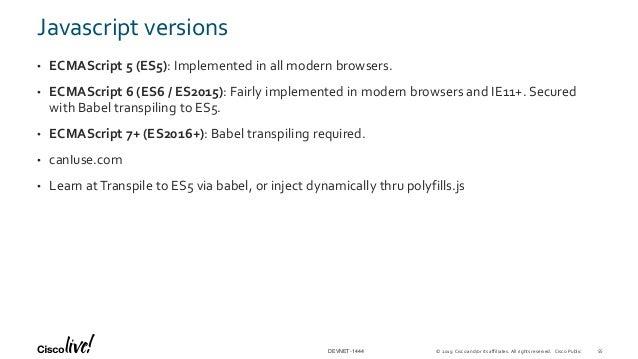Javascript Essentials - Cisco Live Barcelona 2019