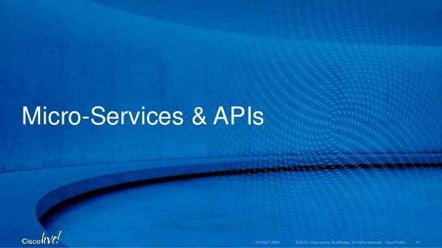 Micro-Services & APIs