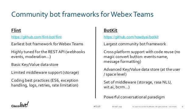 Markdown Webex Teams
