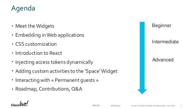 Webex Teams Widgets Technical Drill down - Cisco Live