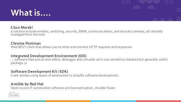 API 102: Programming with Meraki APIs