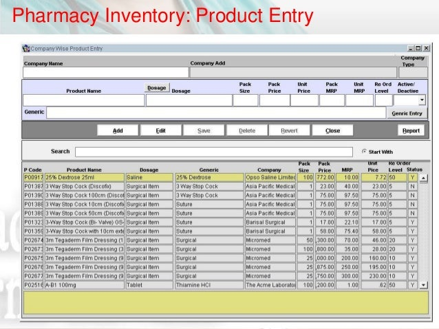 inventory management system term paper