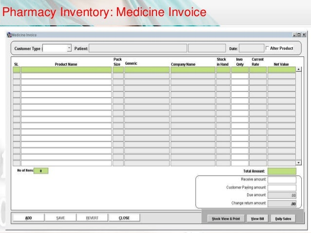 pharmacy inventory management system The p4 solution is a sophisticated, cloud-based software platform that uses scientific forecasting and replenishment tools to better manage a pharmacy's inventory.