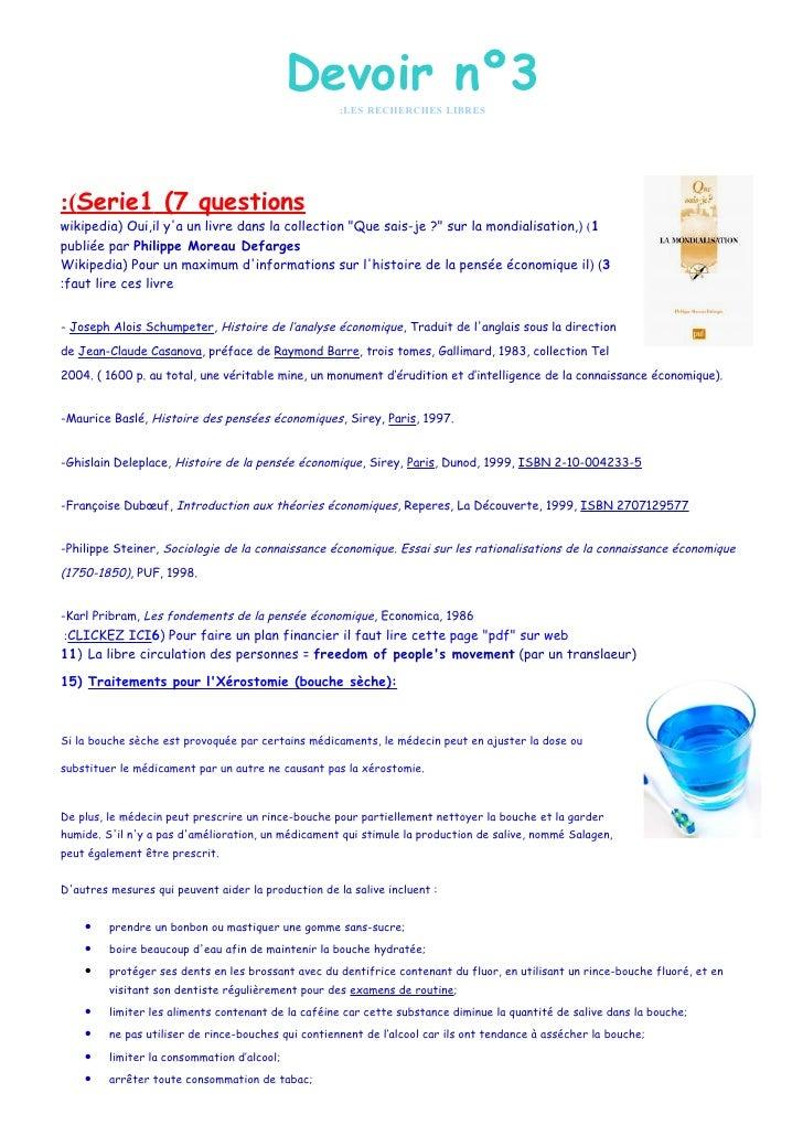 Devoir nº3                                                      :LES RECHERCHES LIBRES     :(Serie1 (7 questions wikipedia...