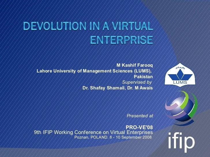 M Kashif Farooq Lahore University of Management Sciences (LUMS),                                             Pakistan     ...