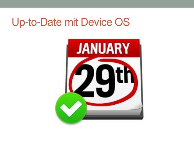 Up-to-Date mit Device OS