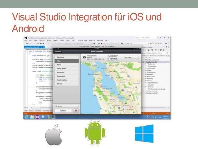 Visual Studio Integration für iOS und Android