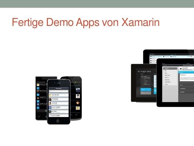 Fertige Demo Apps von Xamarin