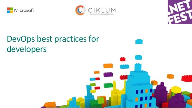 DevOps	best	practices	for	 developers