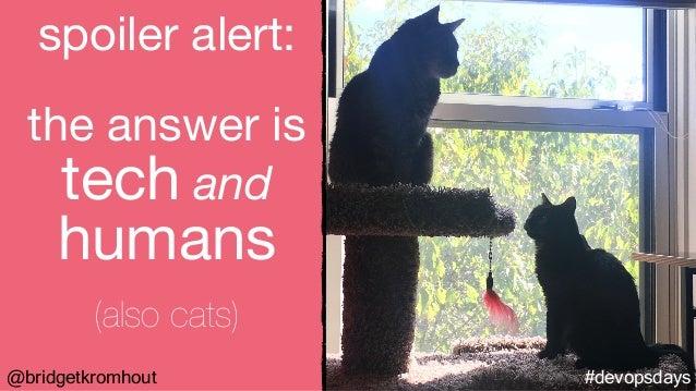 #devopsdays@bridgetkromhout spoiler alert:  the answer is tech and humans  (also cats)