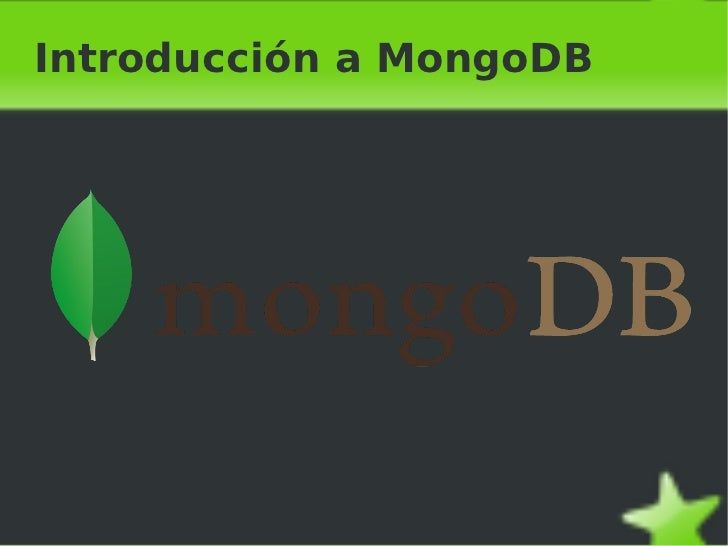 Introducción a MongoDB