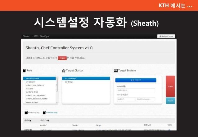 KTH 에서는 … 시스템설정 자동화 (Sheath)