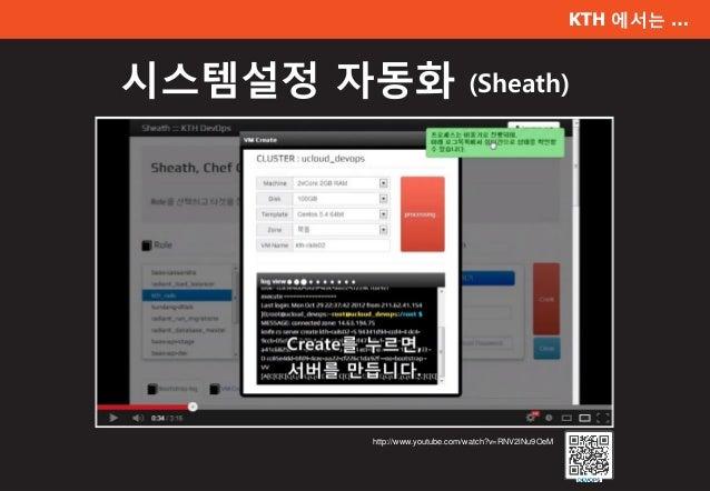 KTH 에서는 … 시스템설정 자동화 (Sheath) http://www.youtube.com/watch?v=RNV2lNu9OeM