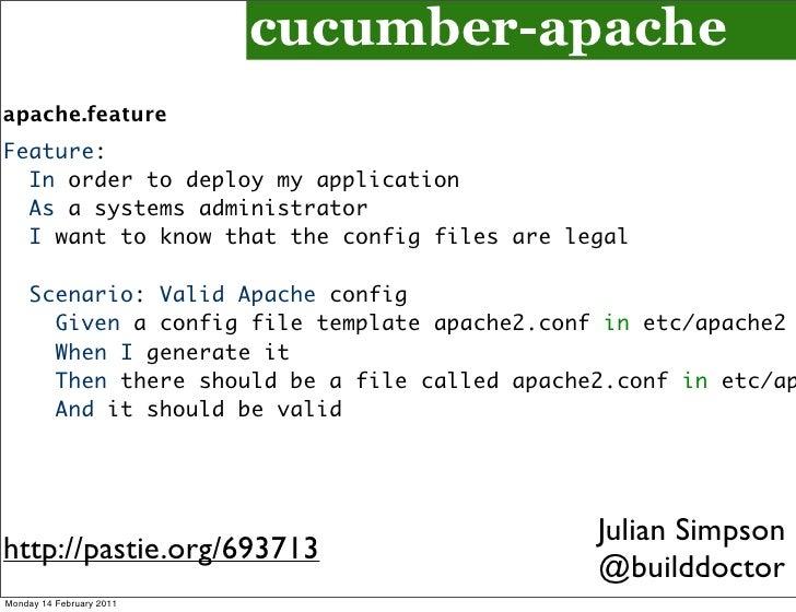 Devops introduction cegeka for Scenario template cucumber