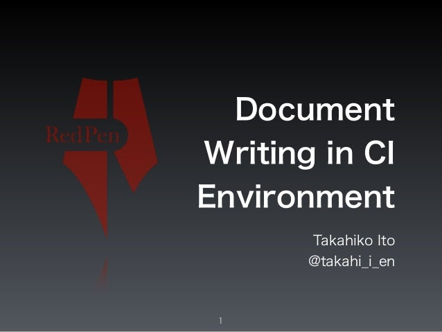 Document Writing in CI Environment