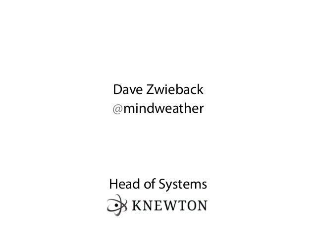 Dave Zwieback@mindweatherHead of Systems