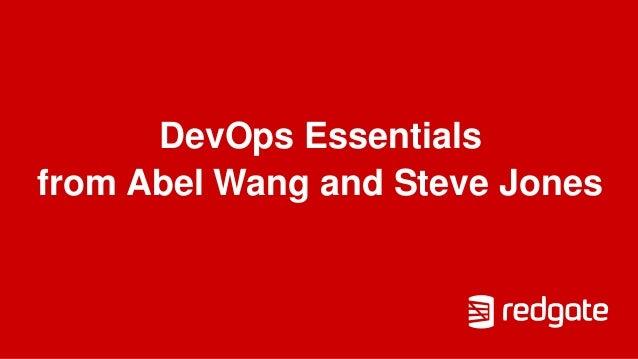 DevOps Essentials from Abel Wang and Steve Jones