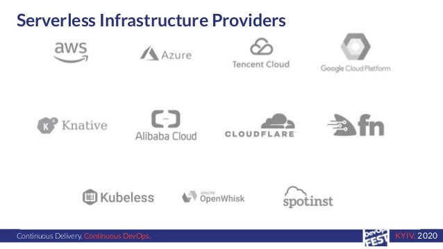 Continuous Delivery. Continuous DevOps. KYIV, 2020 Serverless Infrastructure Providers