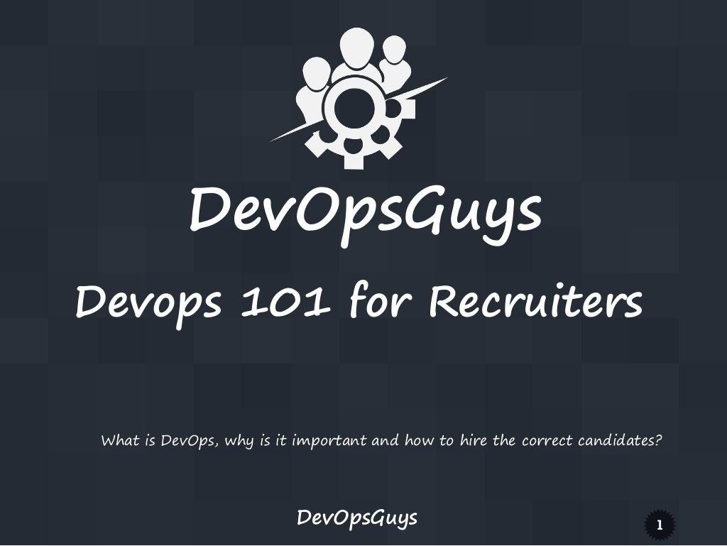 Devopsguys DevOps 101 for recruiters