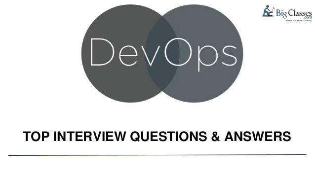 Devops interview questions 2 www bigclasses com