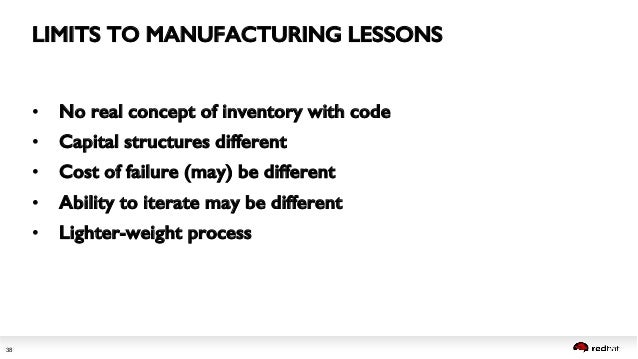 What manufacturing teaches about DevOps