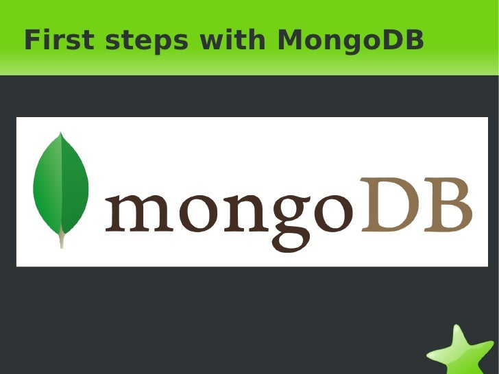 First steps with MongoDB