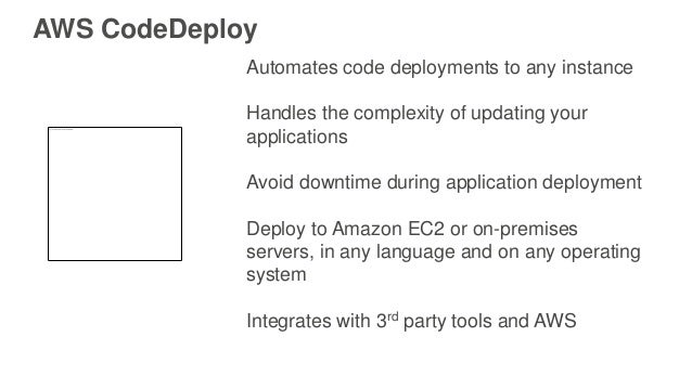 Automates code deployments to any instance Handles the complexity of updating your applications Avoid downtime during appl...
