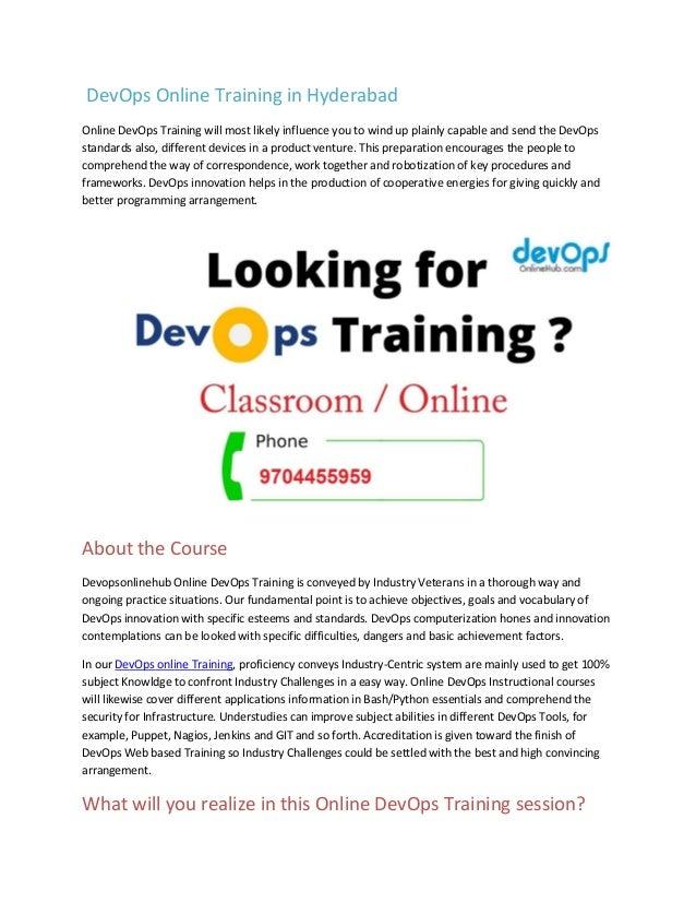 Devops Training Devops Certification Devops Training Online