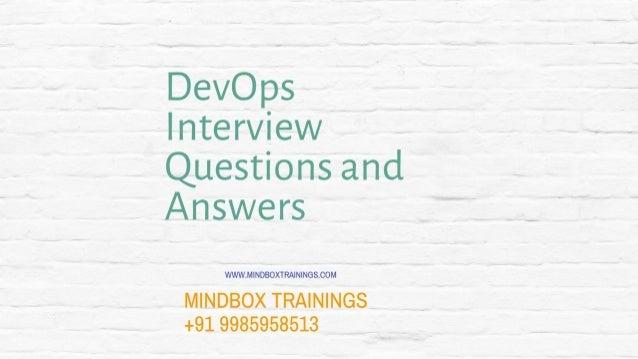 DevOps online training interview questions part 5 | DevOps