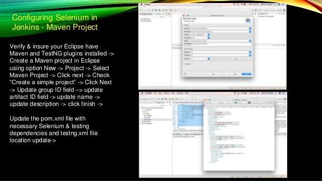 DevOps Continuous Integration -> Selenium -> Cucumber