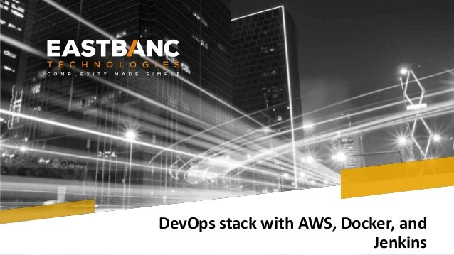 DevOps stack with AWS, Docker, and Jenkins