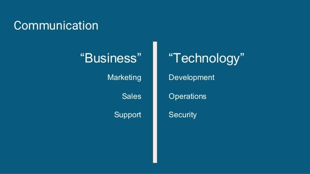 """Communication """"Business"""" Marketing Sales Support """"Technology"""" Development Operations Security"""