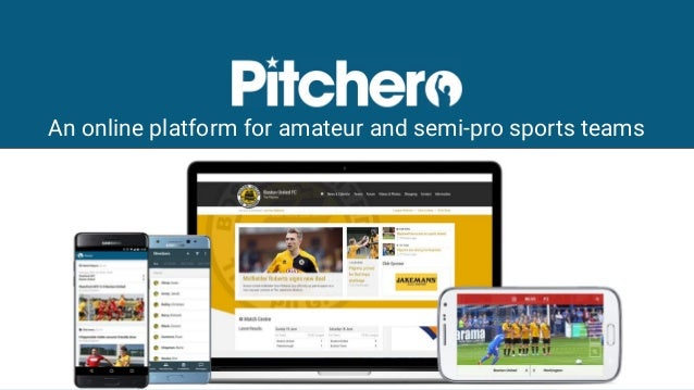 An online platform for amateur and semi-pro sports teams