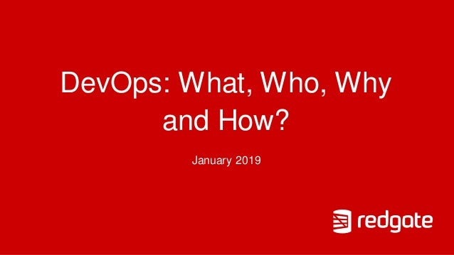 DevOps: What, Who, Why and How? January 2019