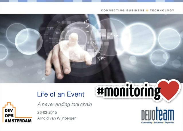 Copyright Life of an Event A never ending tool chain 26-03-2015 Arnold van Wijnbergen
