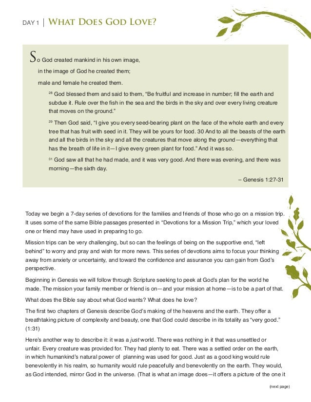 Left Behind: A Mission Trip Devotional Plan for Families and Friends Slide 3
