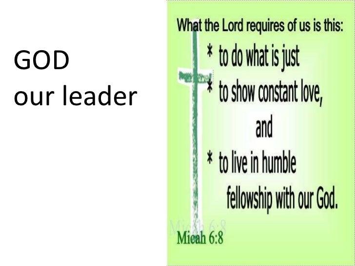 GOD  our leader