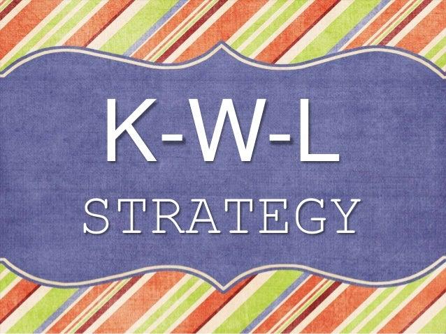 K-W-L STRATEGY