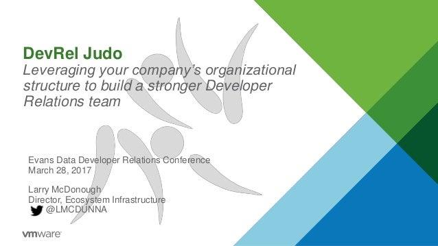 DevRel Judo Leveraging your company's organizational structure to build a stronger Developer Relations team Evans Data Dev...