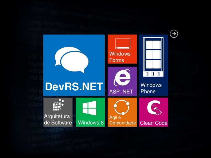 Windows                          FormsDevRS.NET                 ASP .NET                                     Windows      ...