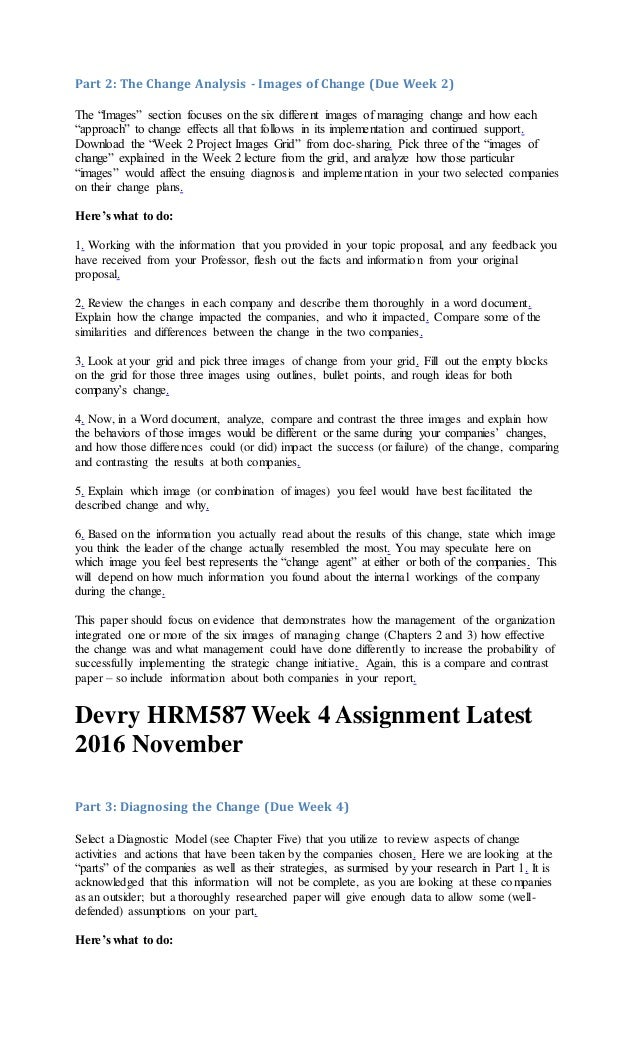 hrm587 course project Hrm 587 managing organizational change click here to download week 1 course project managing organizational change part 1 topic selection (tco 1.