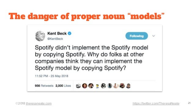 "©2018 theresaneate.com https://twitter.com/TheresaNeate The danger of proper noun ""models"" 21"