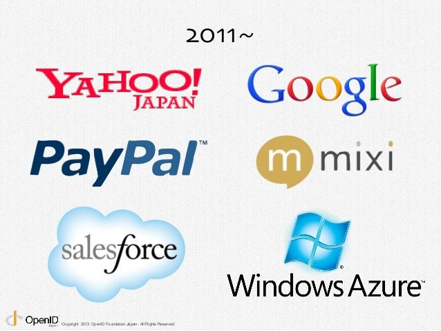 Copyright 2013 OpenID Foundation Japan - All Rights Reserved.  2011~