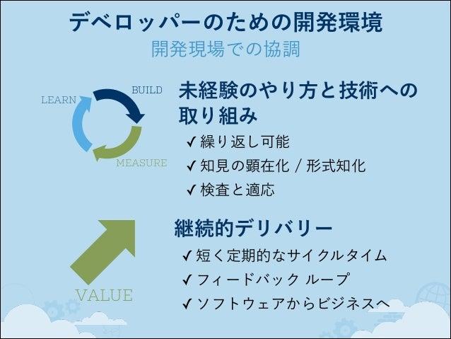 デベロッパーのための開発環境 ツールの進化 3つのポイント 作業間の受け渡しの自動化 / 省力化 テスト自動化の範囲拡大 透明性の推進と省力化  → 開発現場  →  ユーザー  ビジネス  2008, Tools for Agility - ...